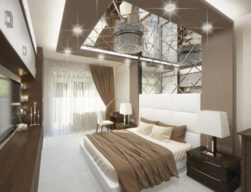 Дизайн интерьера спальни в городе Белгороде