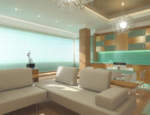 Дизайн интерьера гостиной-студии в городе Белгороде