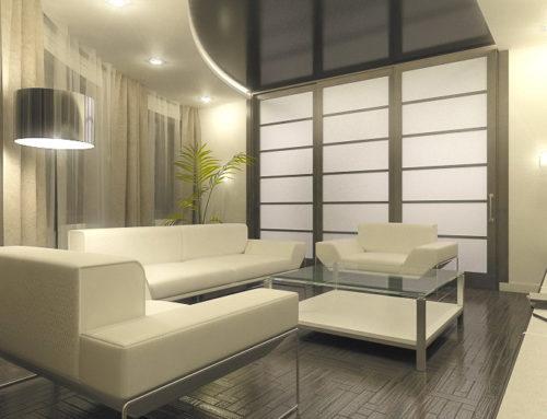 Дизайн интерьера гостиной в городе Белгороде