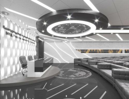 Дизайн интерьера конференц-зала БелЮИ МВД России имени И.Д.Путилина (Вариант 2)