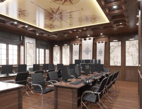 Дизайн интерьера учебной аудитории судовождения БелЮИ МВД России имени И.Д.Путилина
