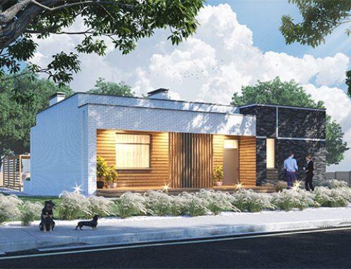 """К56-1Э-124 """"Проект 1-этажного 4-комнатного жилого дома с плоской крышей (флэтхаус)"""""""